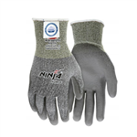 MCR Safety N9677L- Ninja Force Polyurethane Coated Gloves, Gray, Large, 1 Pair